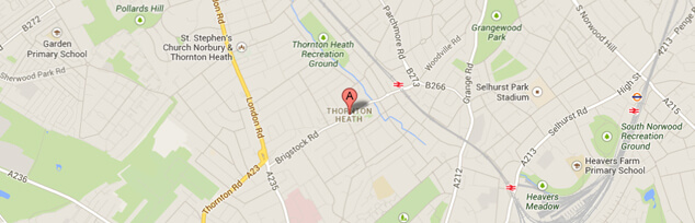 map for vet thornton heath