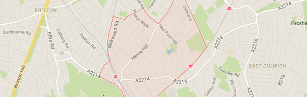 Herne Hill Map