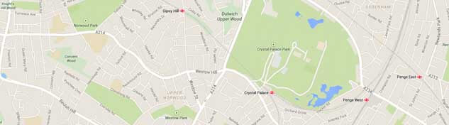 Crystal Palace Map